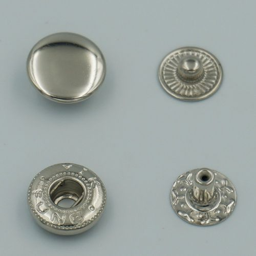 Boutons Pression Argent 12mm