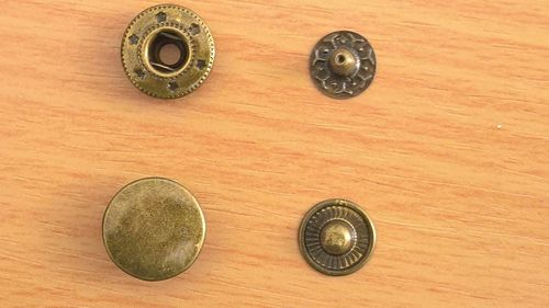 Boutons Pression Bronze 15mm